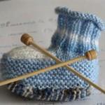 photo tricot modèle tricot jersey chausson bébé gratuit 11