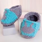 photo tricot modèle tricot jersey chausson bébé gratuit 6
