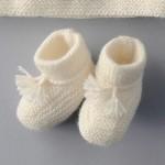 photo tricot modèle tricot jersey chausson bébé gratuit 7