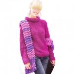 photo tricot modèle tricot jersey qui s enroule 5