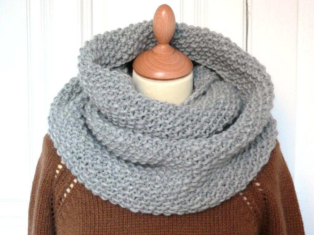tricoter un snood point de ble