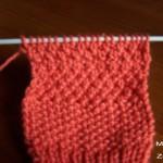 photo tricot modèle tricot point de riz point de blé 15