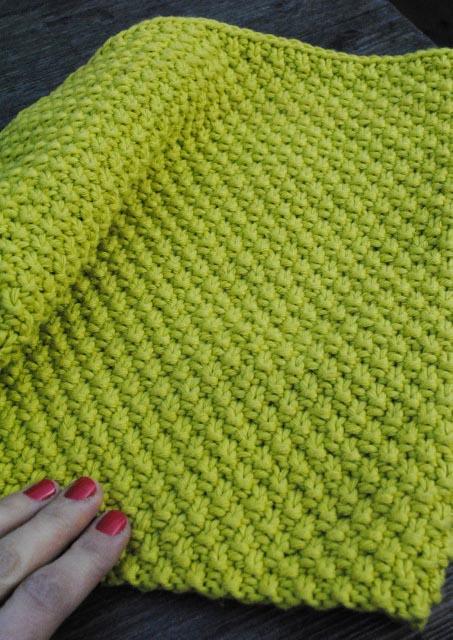 Photo tricot mod le tricot point de riz point de bl 17 - Point de ble au tricot ...