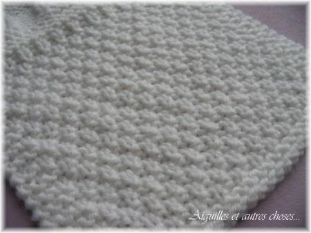 Mod le tricot point de riz point de bl - Point de ble au tricot ...