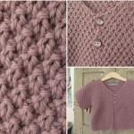 photo tricot modèle tricot point de riz point de blé 3