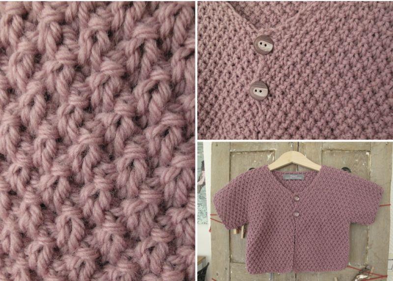 Photo tricot mod le tricot point de riz point de bl 3 - Point de ble au tricot ...