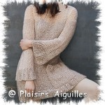 photo tricot modèle tricot robe pull 14