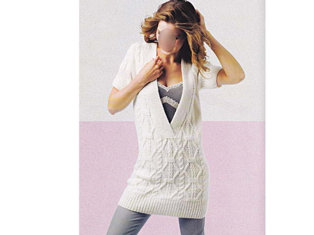 photo tricot modèle tricot robe pull 15