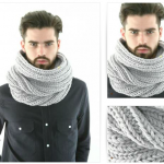 photo tricot modèle tricot snood homme 2