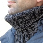 photo tricot modèle tricot snood homme 3
