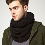 photo tricot modèle tricot snood homme 8