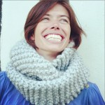 photo tricot modèle tricot snood kit 9