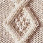 photo tricot modèle tricot torsade losange 11