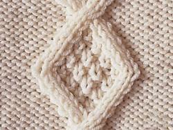 Comment tricoter losange - Comment faire des torsades au tricot ...