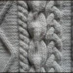 photo tricot modèle tricot torsade losange 12
