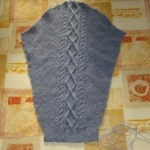 photo tricot modèle tricot torsade losange 14
