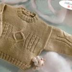 photo tricot modèle tricot torsade losange 15
