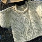 photo tricot modèle tricot torsade losange 17