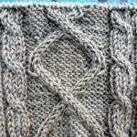 photo tricot modèle tricot torsade losange 2