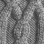 photo tricot modèle tricot torsade losange 3