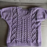 photo tricot modèle tricot torsade losange 4