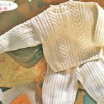 photo tricot modèle tricot torsade losange 7