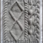 photo tricot modèle tricot torsade losange 9