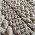 photo tricot modèle tricot torsade natté 17
