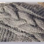 photo tricot modèle tricot torsade natté 5