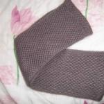 photo tricot modèle tricoter nid d abeille comment 10