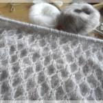 photo tricot modèle tricoter nid d abeille comment 12