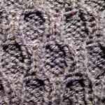 photo tricot modèle tricoter nid d abeille comment 16