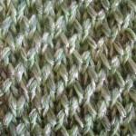 photo tricot modèle tricoter nid d abeille comment 2