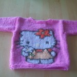 photo tricot model tricot hello kitty top 2