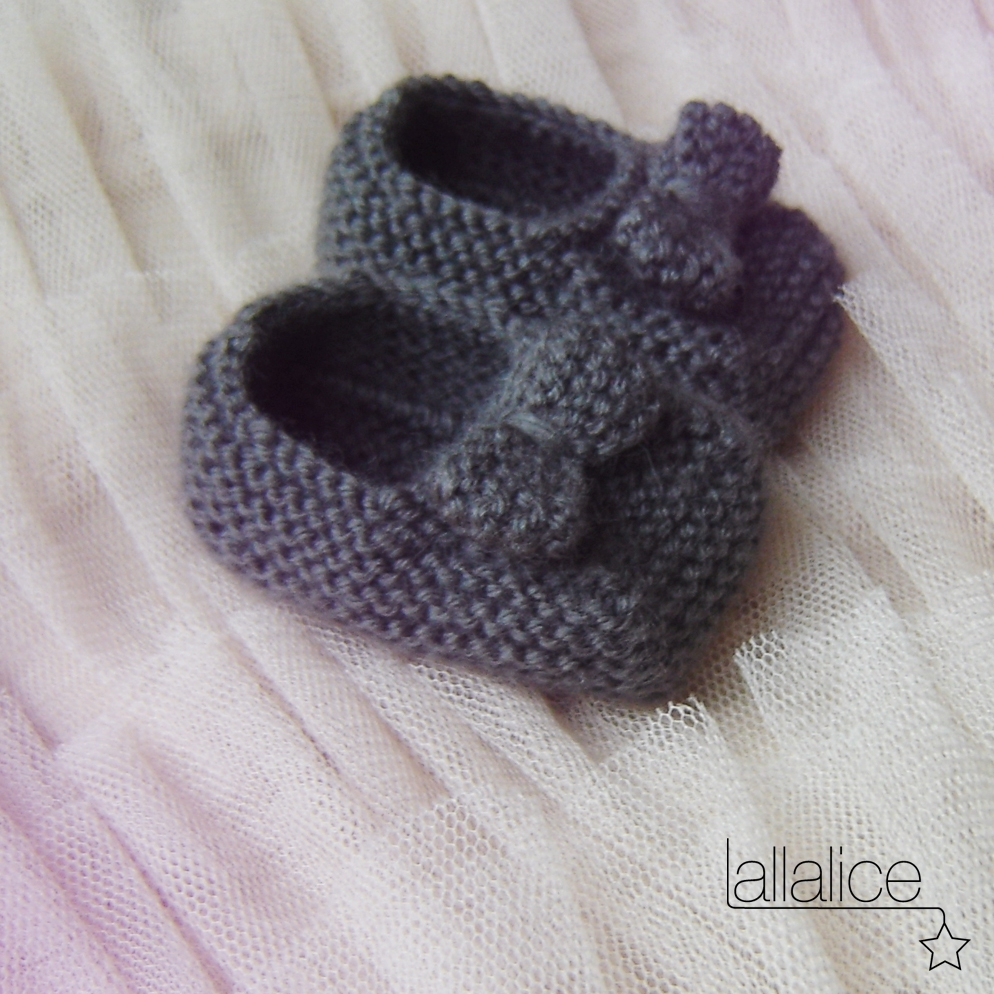 photo tricot modele chausson bébé tricot gratuit 4