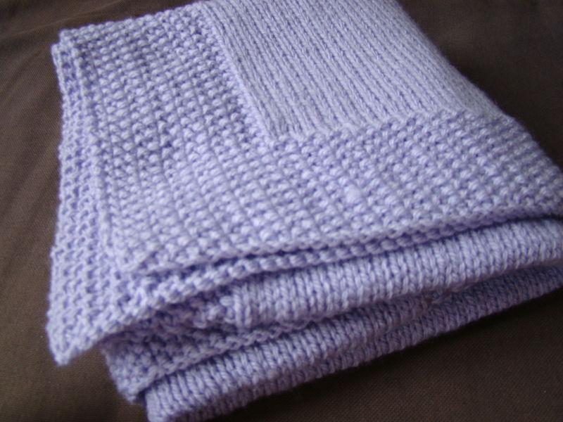 photo tricot modele de tricot pour bebe couverture