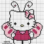 photo tricot modele grille tricot hello kitty 15