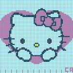 photo tricot modele grille tricot hello kitty