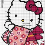 photo tricot modele grille tricot hello kitty 17