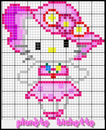patron tricot hello kitty