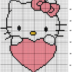 photo tricot modele grille tricot hello kitty 5