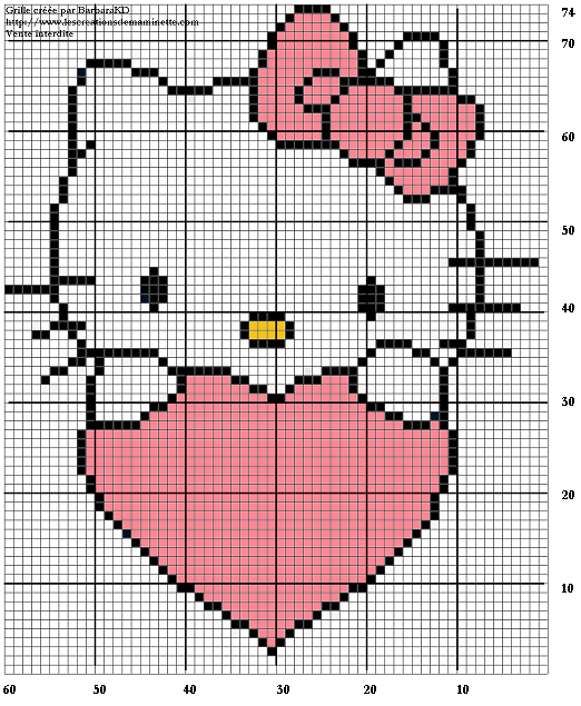 modele tricot hello kitty