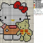 photo tricot modele grille tricot hello kitty 8