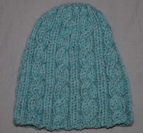 photo tricot modele pour tricoter un bonnet femme 11