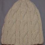 photo tricot modele tricot bonnet femme torsade 10