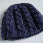 photo tricot modele tricot bonnet femme torsade 13