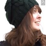 photo tricot modele tricot bonnet femme torsade 14