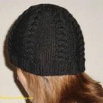 photo tricot modele tricot bonnet femme torsade 15