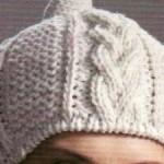 photo tricot modele tricot bonnet femme torsade 5