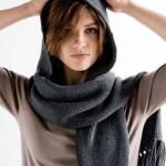 photo tricot modele tricot echarpe a capuche 4